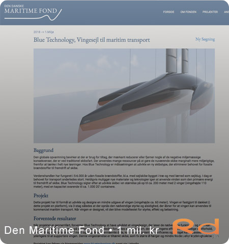 blue technology, Brian Boserup, bæredygtighed, grøn teknologi, containerskibe, den maritime fond, roug design