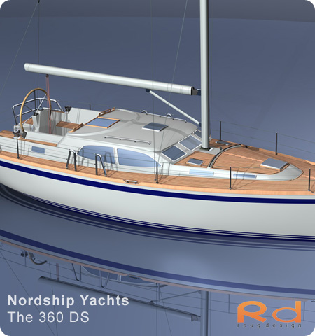 European yacht of the year, nordship yachts, roug design, nordship 360, ds 360, 3d renderings, roug design, transport design, BUCHWALD & BORGHEGN, Scandinavian yacht design, family yacht, Excellent deck-saloon