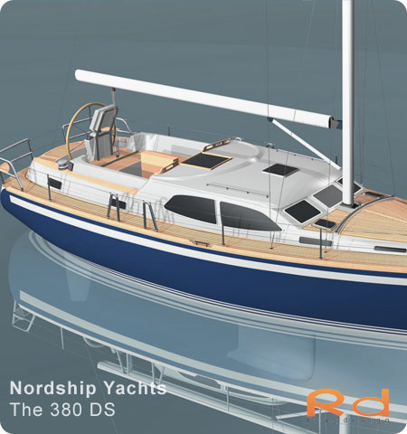 Excellent deck-saloon, danish yacht design, danish navel architecture, Lars 3d, roug 3d, nordship 380, keyshot, alias studiotools, ds 380, roug design, rough designer, rouge design, Nordship 380DS