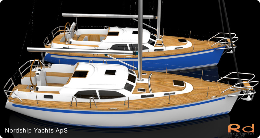 rouge design, Nordship 380DS, nordship yachts, 3d renderings, transportation design, BUCHWALD and BORGHEGN, Scandinavian yacht designs, Scandinavian luxury yachts, 3d art, Excellent deck-saloon, alias studiotools