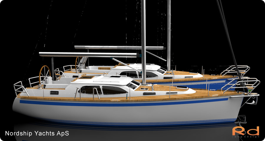 Nordship 380DS, nordship yachts, 3d renderings, transportation design, BUCHWALD and BORGHEGN, Scandinavian yacht designs, Scandinavian luxury yachts, 3d art, Excellent deck-saloon, alias studiotools, keyshot