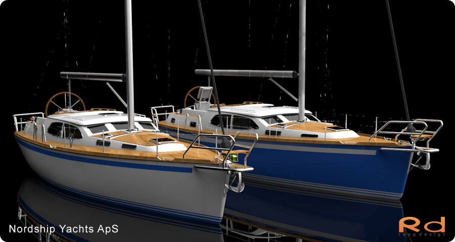 nordship yachts, 3d renderings, transportation design, BUCHWALD and BORGHEGN, Scandinavian yacht designs, Scandinavian luxury yachts, 3d art, Excellent deck-saloon, alias studiotools, keyshot, roug 3d