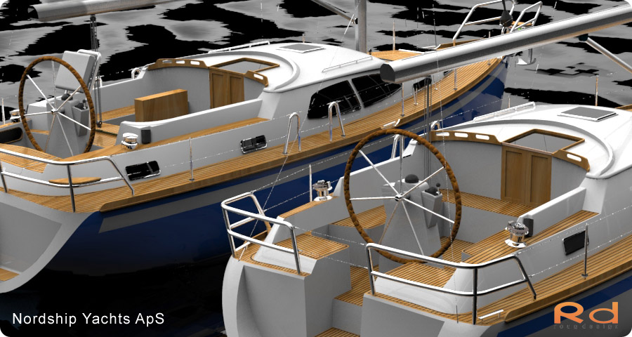 transportation design, BUCHWALD and BORGHEGN, Scandinavian yacht designs, Scandinavian luxury yachts, 3d art, Excellent deck-saloon, alias studiotools, keyshot, roug 3d, Lars 3d, danish yacht design