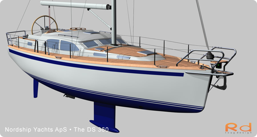 nordship 360, ds 360, 3d renderings, transport design, BUCHWALD & BORGHEGN, Scandinavian yacht design, family yacht, Excellent deck-saloon, danish yacht design, danish navel architecture, Lars 3d, roug 3d