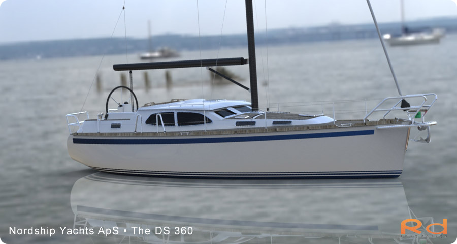Scandinavian yacht design, family yacht, Excellent deck-saloon, danish yacht design, danish navel architecture, Lars 3d, roug 3d, nordship 360, keyshot, alias studiotools, ds 360