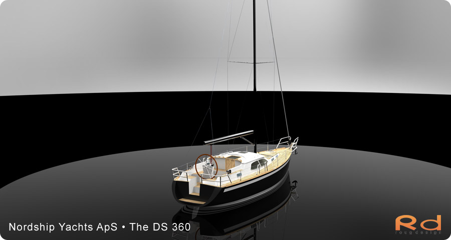 Excellent deck-saloon, danish yacht design, danish navel architecture, Lars 3d, roug 3d, nordship 360, keyshot, alias studiotools, ds 360, roug design, rough designer, rouge design, European yacht of the year