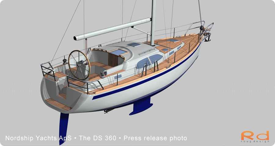 nordship yachts, roug design, nordship 360, ds 360, 3d renderings, transport design, BUCHWALD & BORGHEGN, Scandinavian yacht design, family yacht, Excellent deck-saloon, danish yacht design, danish navel architecture