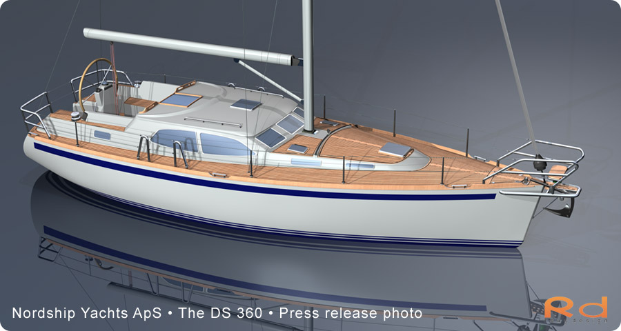nordship yachts, roug design, nordship 360, ds 360, 3d renderings, transport design, BUCHWALD & BORGHEGN, Scandinavian yacht design, family yacht, Excellent deck-saloon, danish yacht design