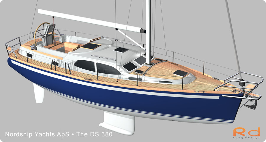 roug 3d, nordship 380, keyshot, alias studiotools, ds 380, roug design, rough designer, rouge design, Nordship 380DS, nordship yachts, 3d renderings, transportation design, BUCHWALD and BORGHEGN