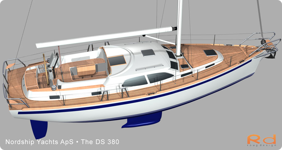 Lars 3d, roug 3d, nordship 380, keyshot, alias studiotools, ds 380, roug design, rough designer, rouge design, Nordship 380DS, nordship yachts, 3d renderings, transportation design