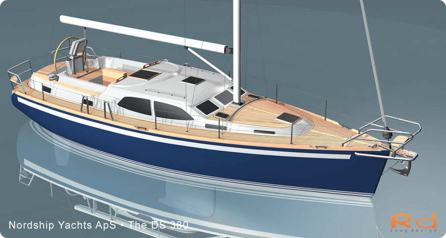 alias studiotools, ds 380, roug design, rough designer, rouge design, Nordship 380DS, nordship yachts, 3d renderings, transportation design, BUCHWALD and BORGHEGN, Scandinavian yacht designs, Scandinavian luxury yachts